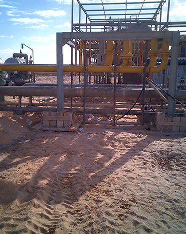 Travaux liés aux  Stations de compression GAZ
